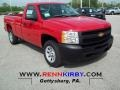 2012 Victory Red Chevrolet Silverado 1500 Work Truck Regular Cab  photo #1