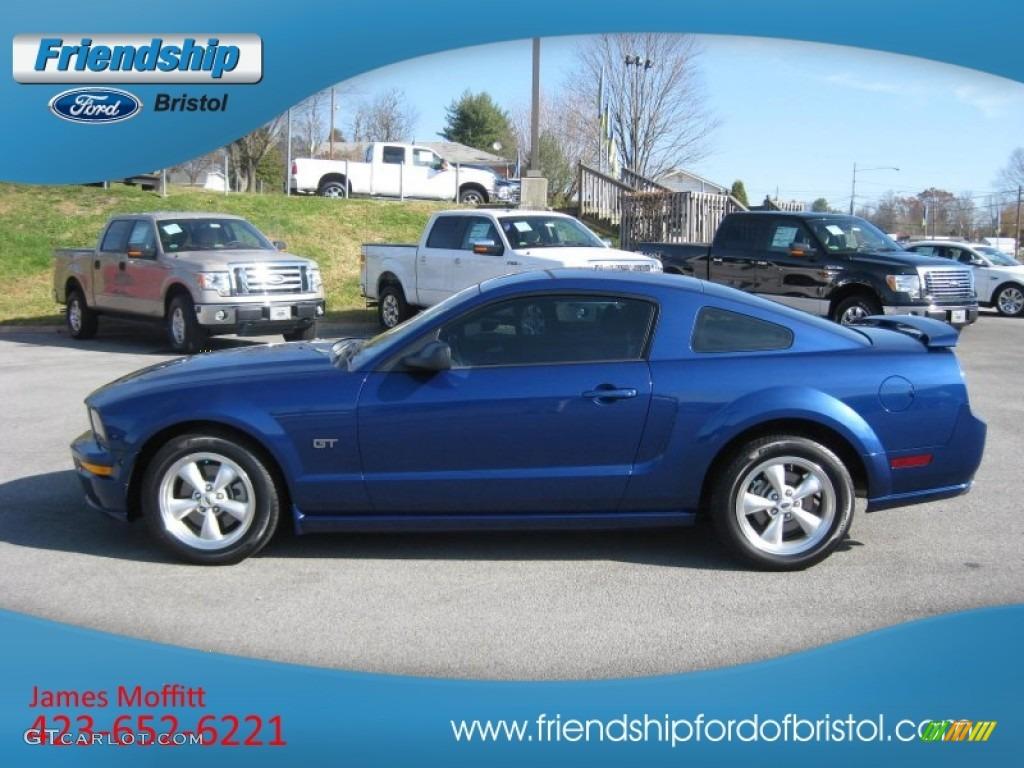 2007 Mustang GT Deluxe Coupe - Vista Blue Metallic / Light Graphite photo #1