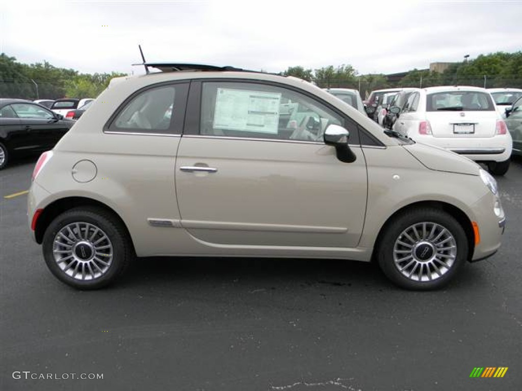 Mocha Latte Light Brown 2012 Fiat 500 Lounge Exterior
