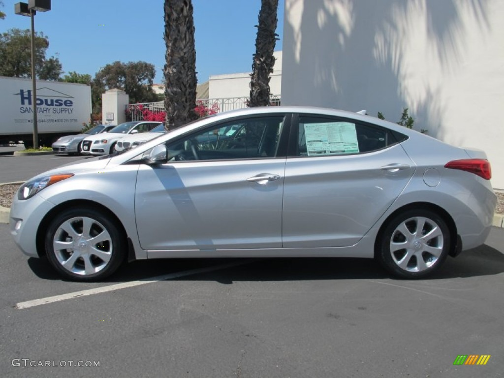 Silver 2013 Hyundai Elantra Limited Exterior Photo