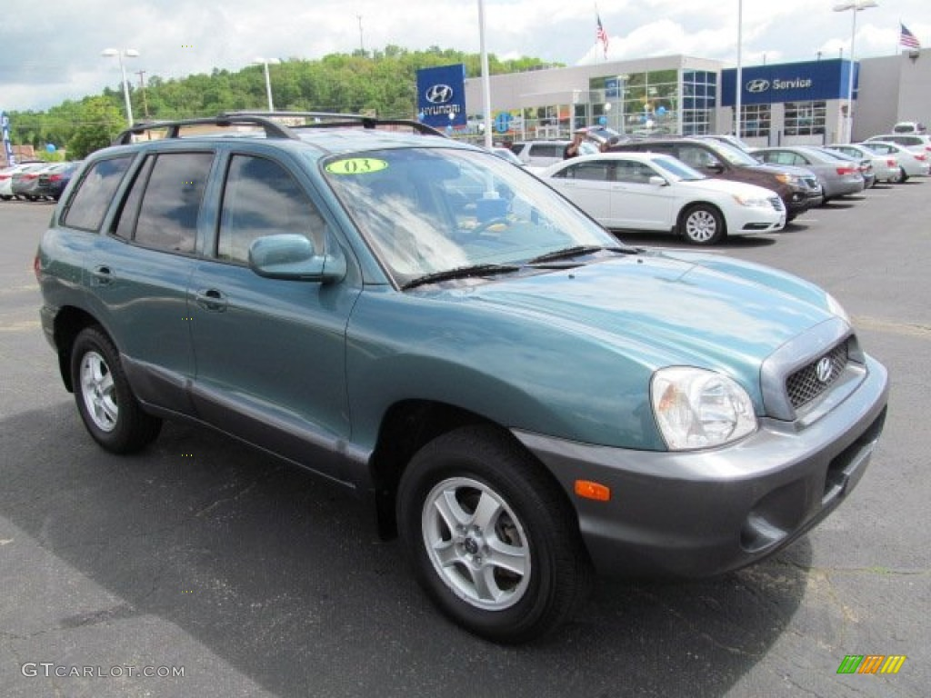 2003 pine green hyundai santa fe i4 64975186 car color galleries. Black Bedroom Furniture Sets. Home Design Ideas