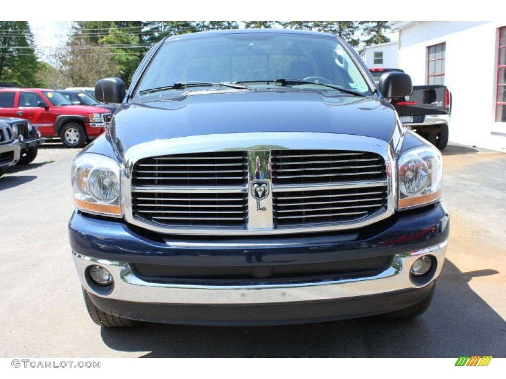 2006 Ram 1500 SLT Quad Cab 4x4 - Patriot Blue Pearl / Medium Slate Gray photo #16