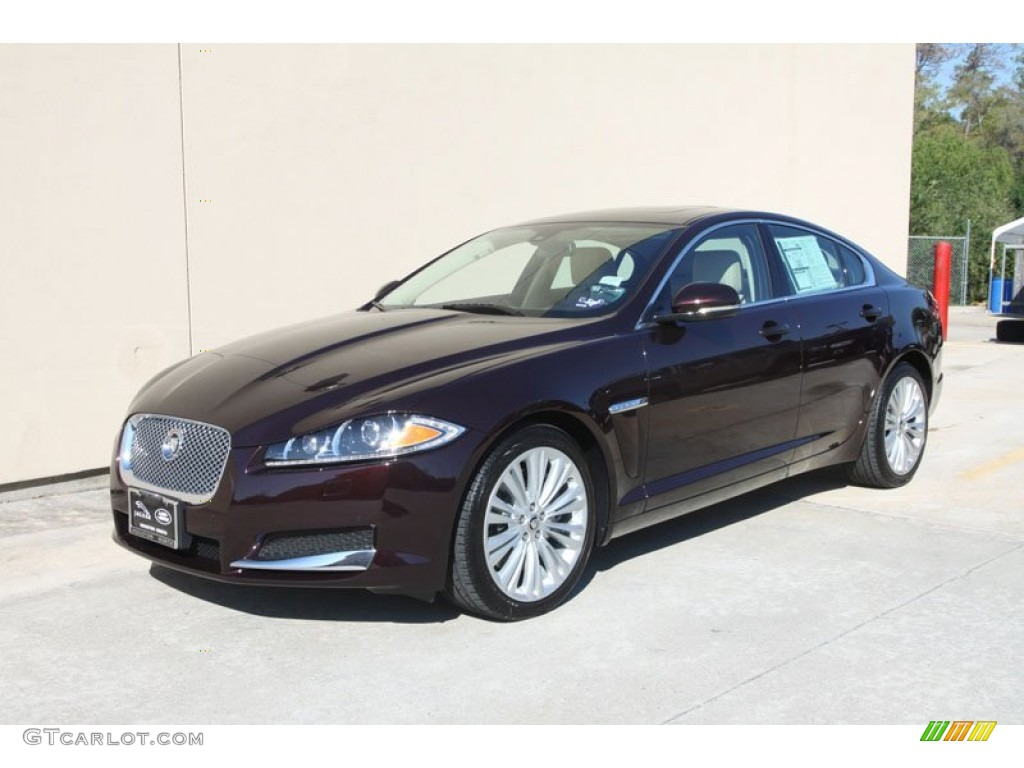 jaguar xf 2013 red