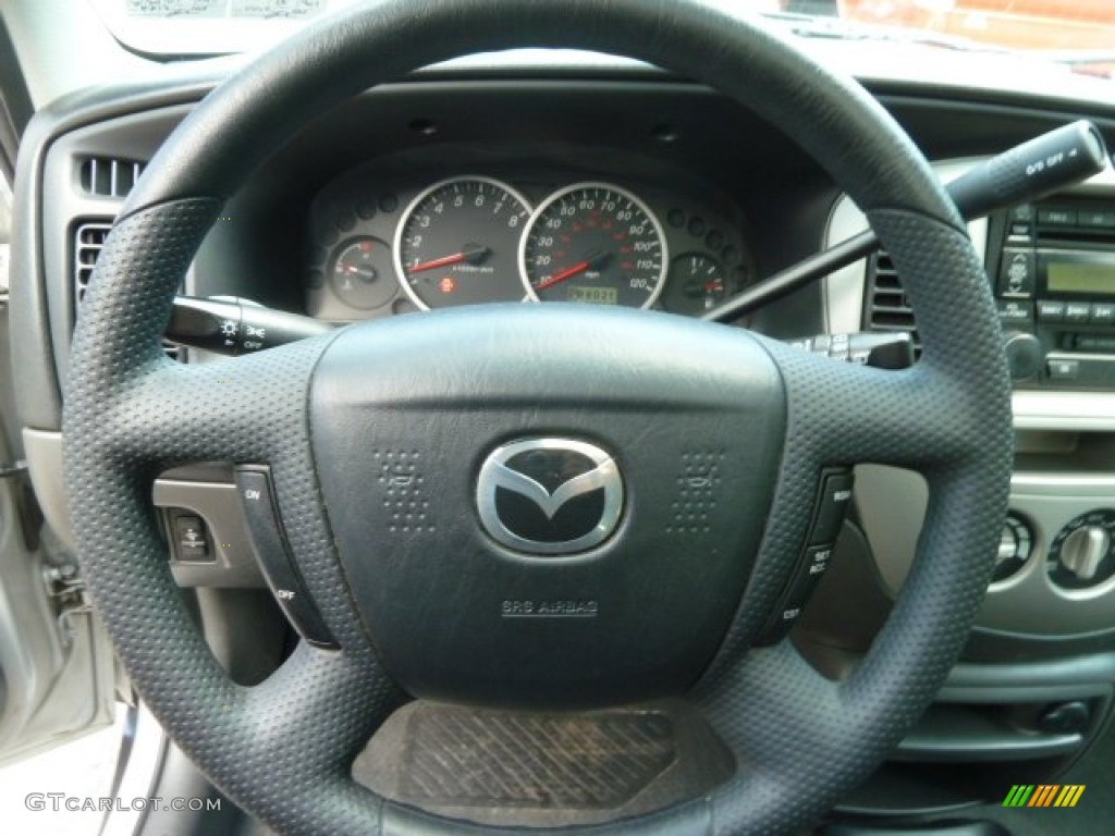 2004 mazda tribute lx v6 4wd black steering wheel photo. Black Bedroom Furniture Sets. Home Design Ideas