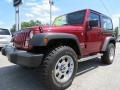 2012 Deep Cherry Red Crystal Pearl Jeep Wrangler Sport 4x4  photo #3