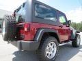 2012 Deep Cherry Red Crystal Pearl Jeep Wrangler Sport 4x4  photo #7