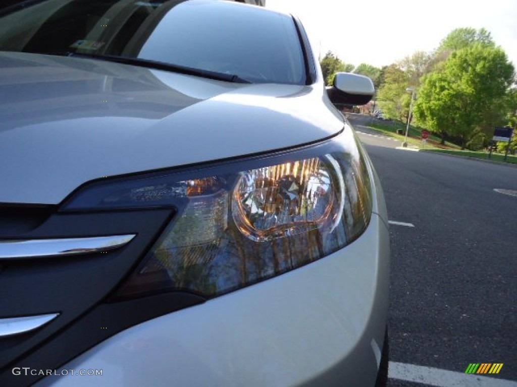 2012 CR-V EX 4WD - Alabaster Silver Metallic / Gray photo #12