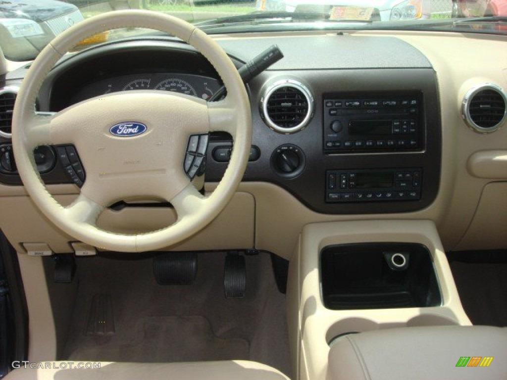2004 Ford Expedition Eddie Bauer 4x4 Medium Parchment Dashboard Photo 65085728