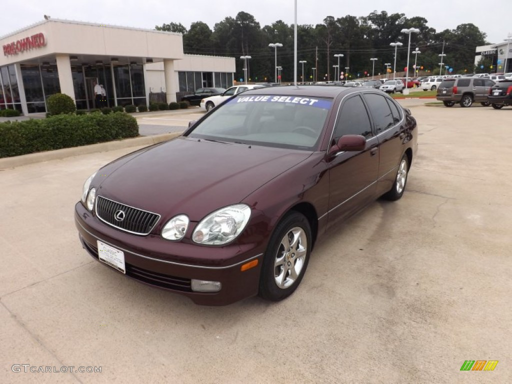 2002 gs 300 black cherry pearl ivory photo 1