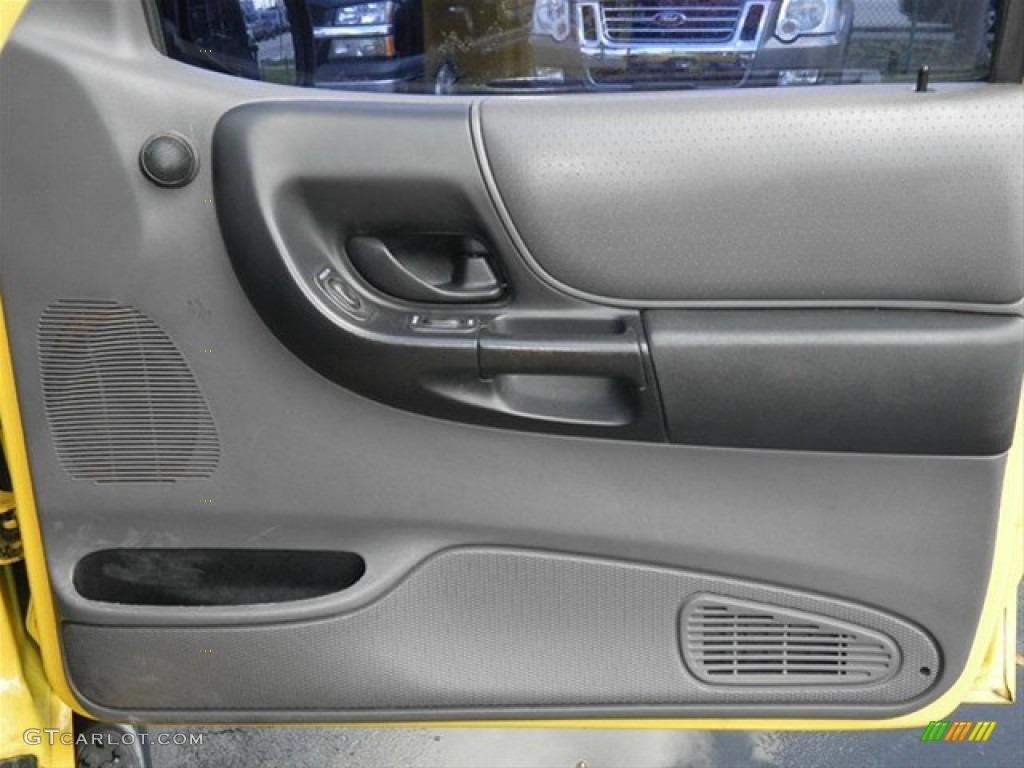 2001 Ford Ranger Edge Supercab Dark Graphite Door Panel Photo 65137034