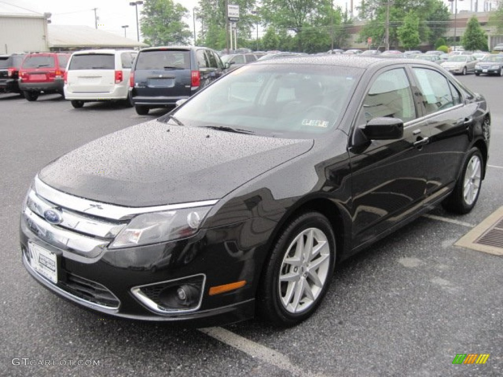 2011 Fusion SEL V6 - Tuxedo Black Metallic / Charcoal Black photo #3