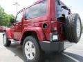 2012 Deep Cherry Red Crystal Pearl Jeep Wrangler Sahara 4x4  photo #2