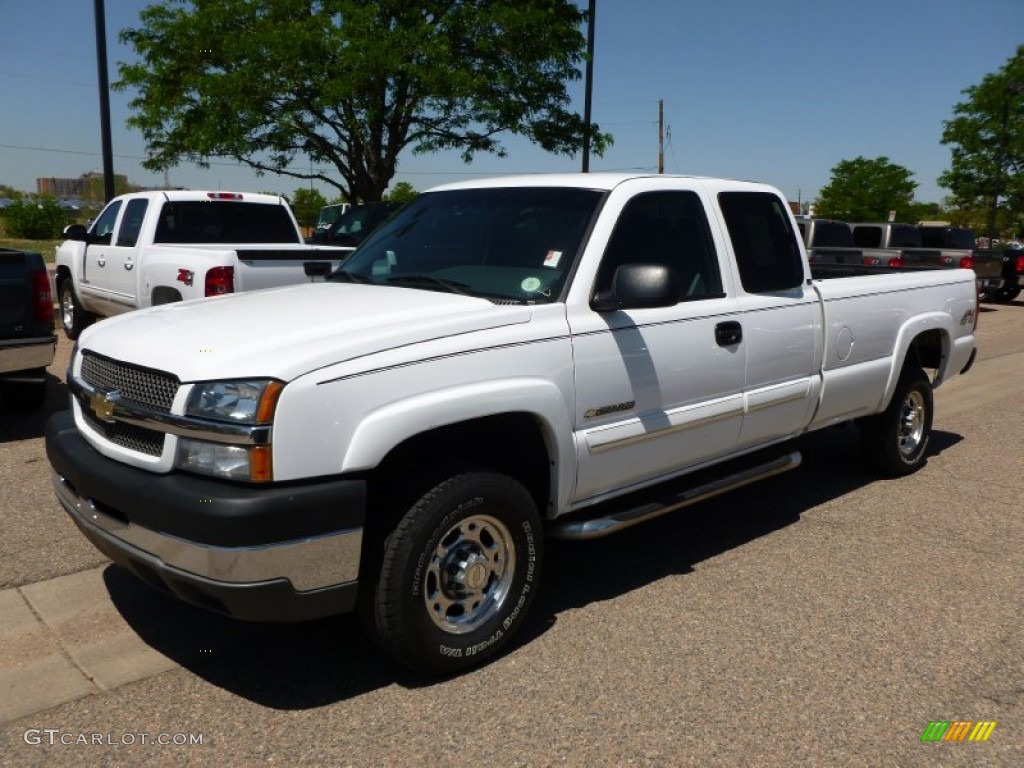 2003 Summit White Chevrolet Silverado 2500hd Ls Extended Cab