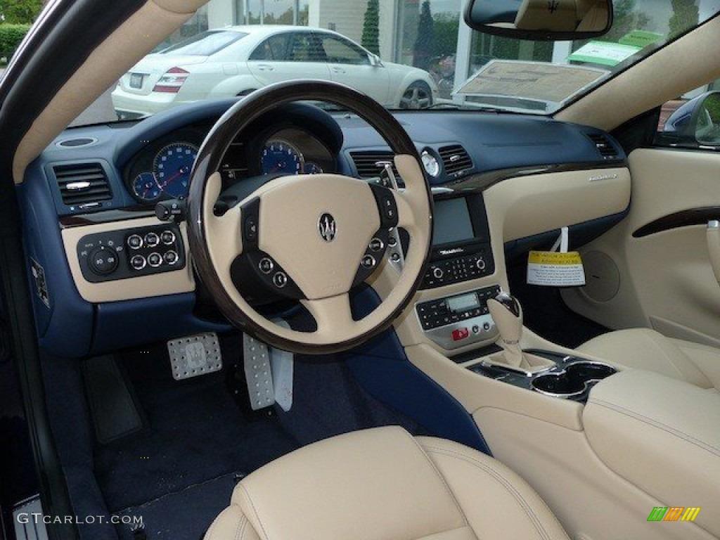 2012 blu oceano blue metallic maserati granturismo s for Maserati granturismo s interieur
