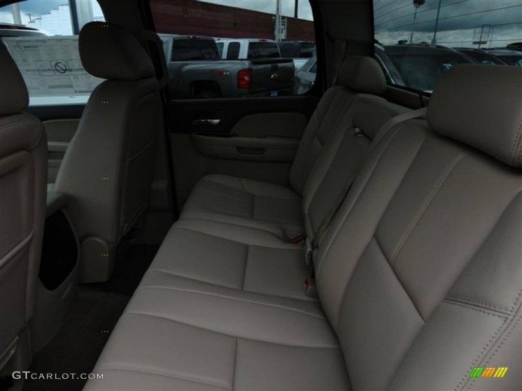 2012 Silverado 1500 LTZ Crew Cab 4x4 - White Diamond Tricoat / Light Cashmere/Dark Cashmere photo #4