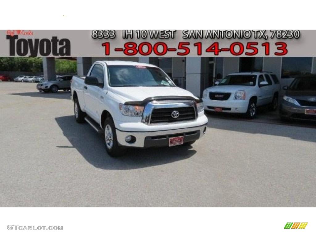 2009 Tundra SR5 Regular Cab - Super White / Graphite Gray photo #1