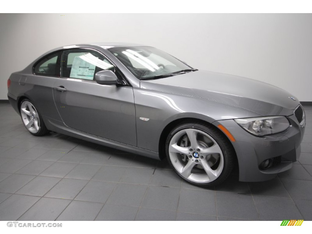 2012 space grey metallic bmw 3 series 335i coupe 65185024 car color galleries. Black Bedroom Furniture Sets. Home Design Ideas