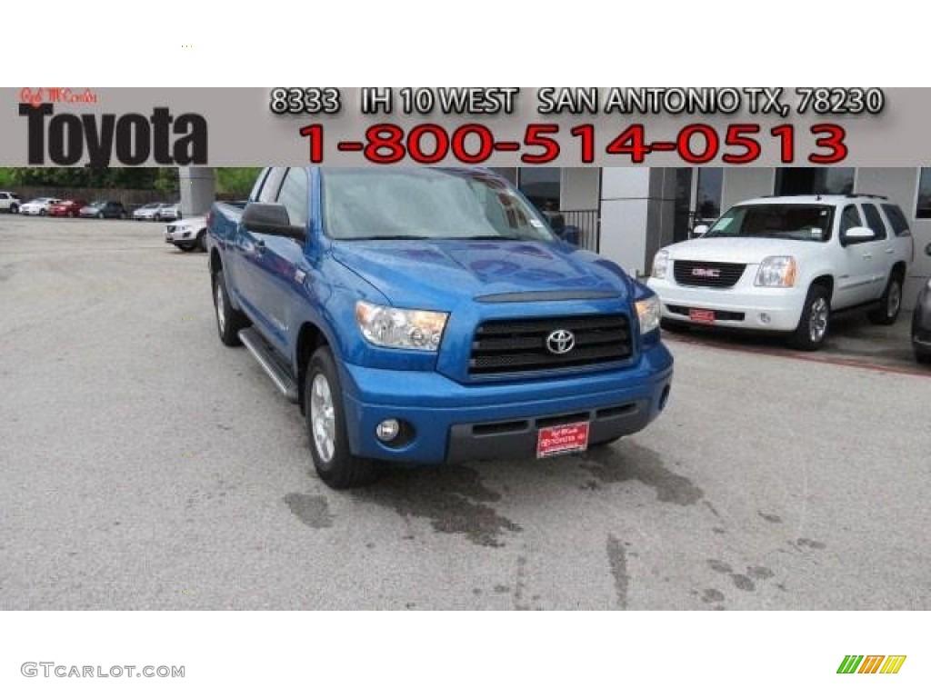2008 Tundra SR5 Double Cab - Blue Streak Metallic / Graphite Gray photo #1