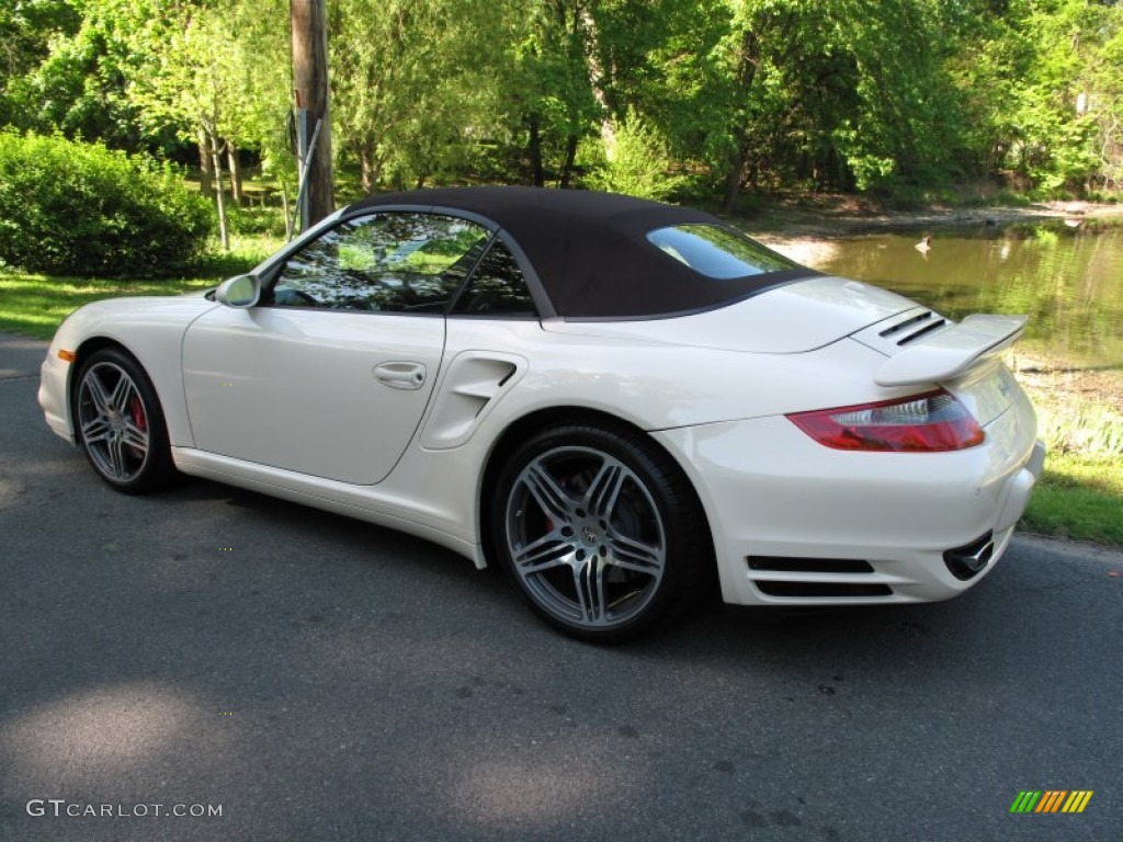 Cream White 2009 Porsche 911 Turbo Cabriolet Exterior Photo 65202558 Gtcarlot Com