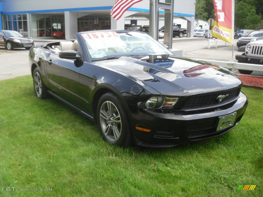 2010 black ford mustang v6 premium convertible 65184690 car color galleries. Black Bedroom Furniture Sets. Home Design Ideas