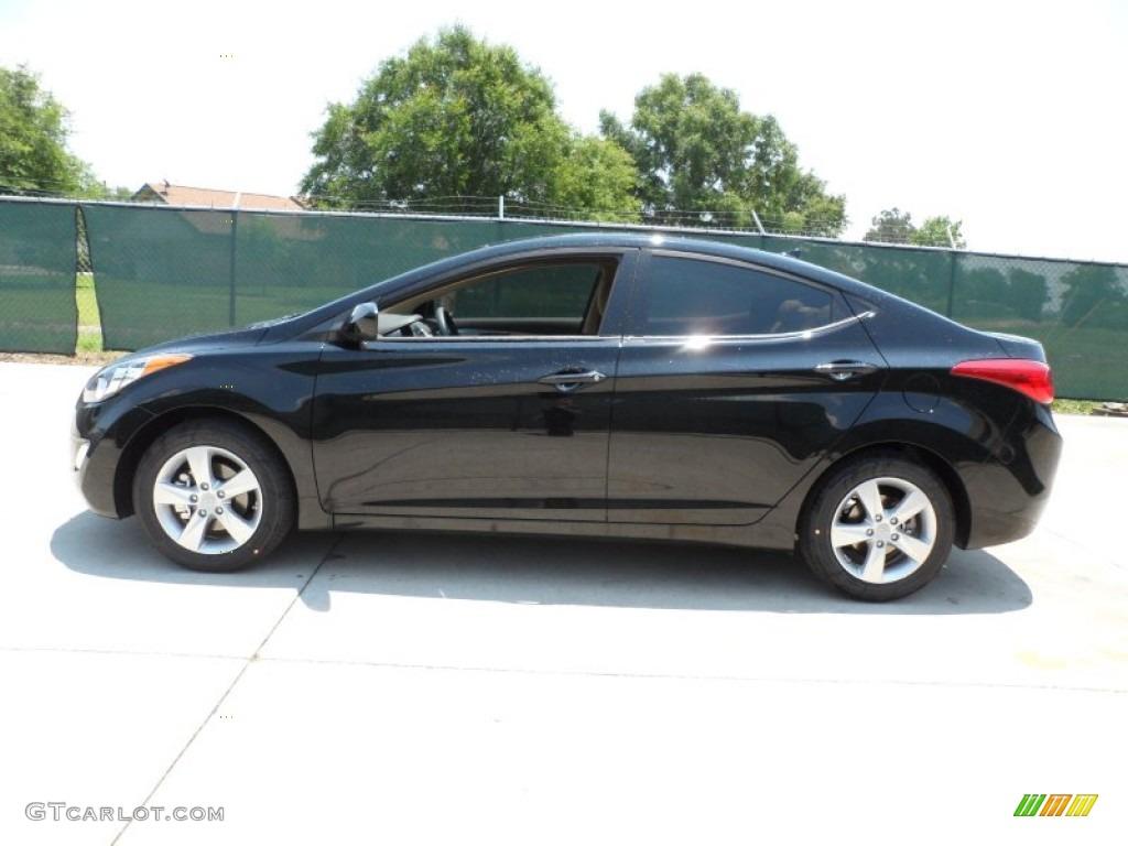 2013 Midnight Black Hyundai Elantra Gls 65228864 Photo 6