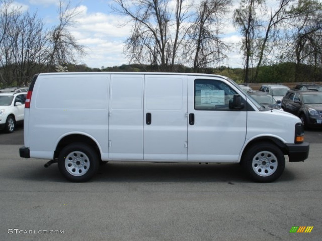 summit white 2012 chevrolet express 1500 awd cargo van exterior photo 65244333. Black Bedroom Furniture Sets. Home Design Ideas