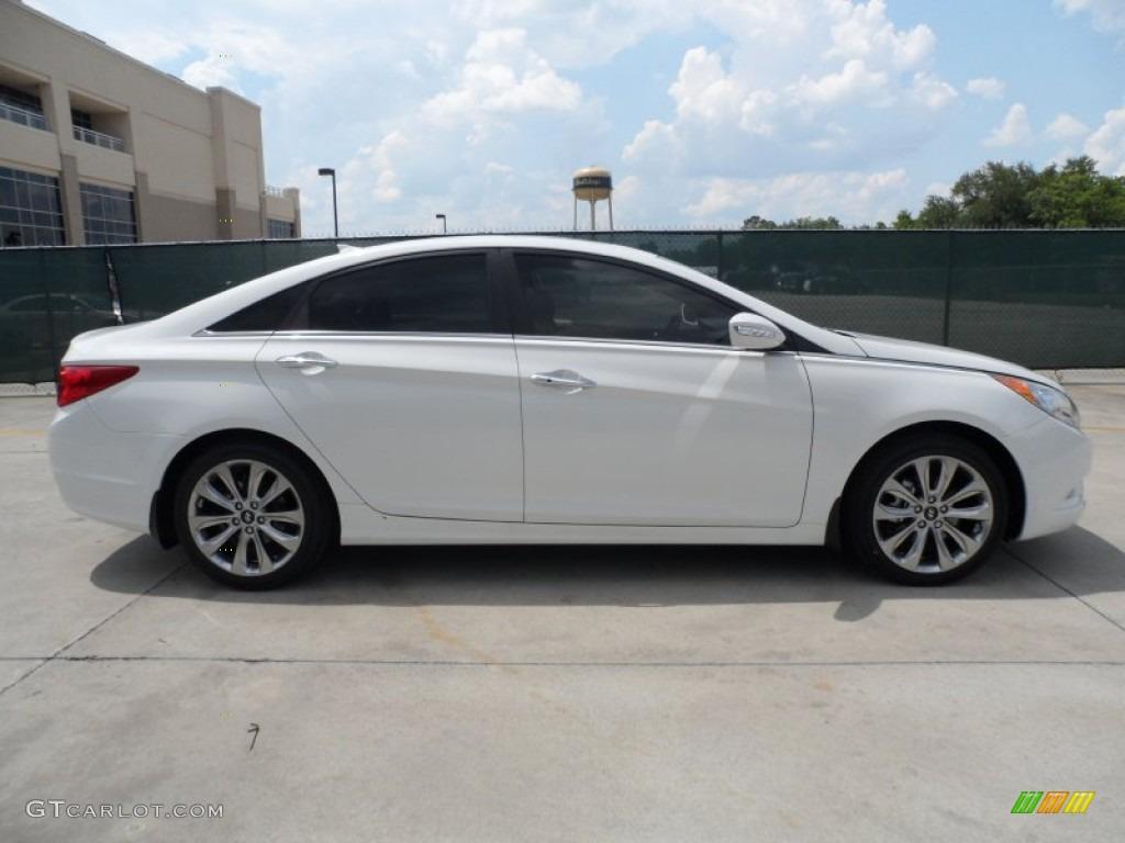 Shimmering White 2013 Hyundai Sonata Limited 2 0t Exterior Photo 65245421 Gtcarlot Com