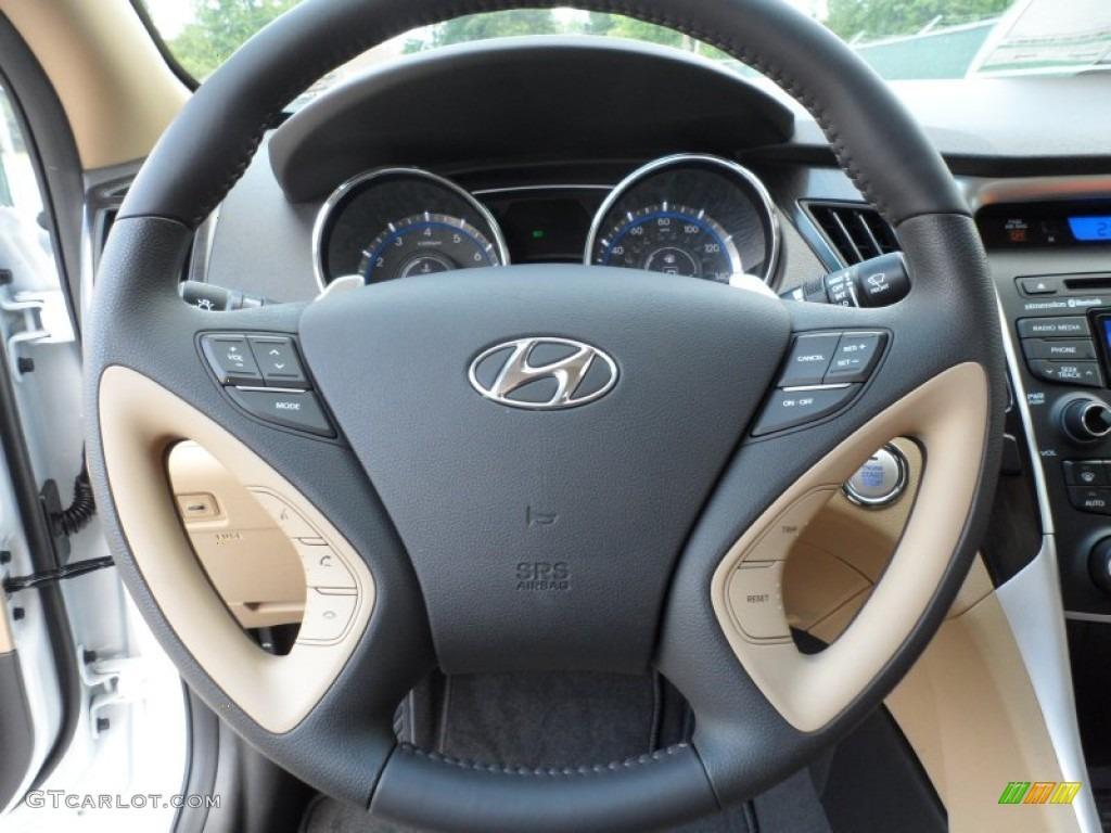 2013 hyundai sonata limited 2 0t camel steering wheel photo 65245730. Black Bedroom Furniture Sets. Home Design Ideas