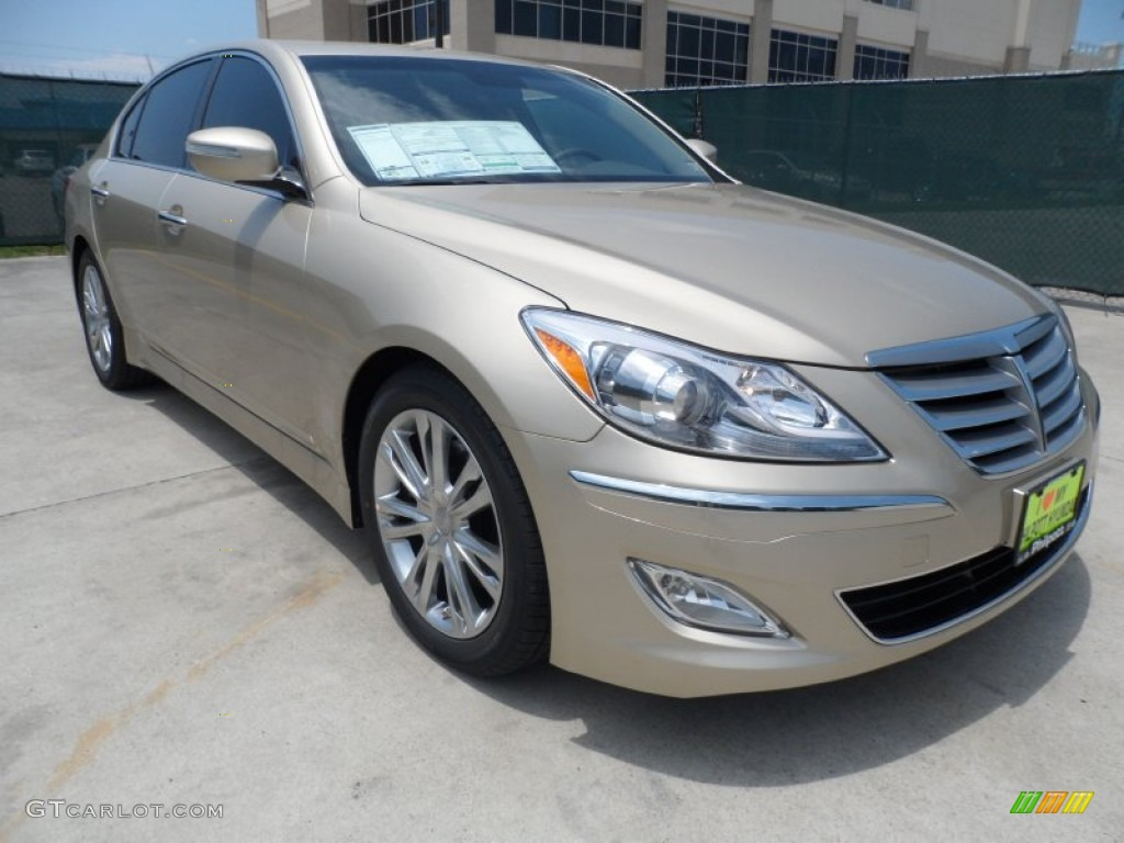 2012 champagne beige metallic hyundai genesis 3 8 sedan 65228849 car color. Black Bedroom Furniture Sets. Home Design Ideas
