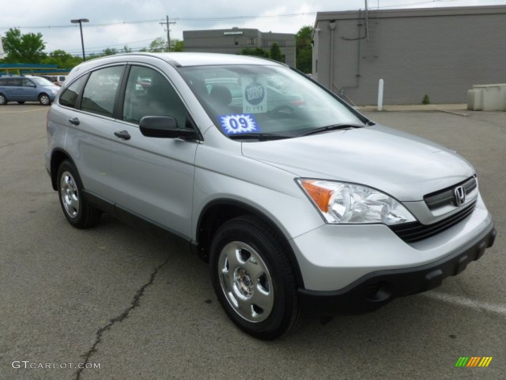 2009 CR-V LX 4WD - Alabaster Silver Metallic / Black photo #1