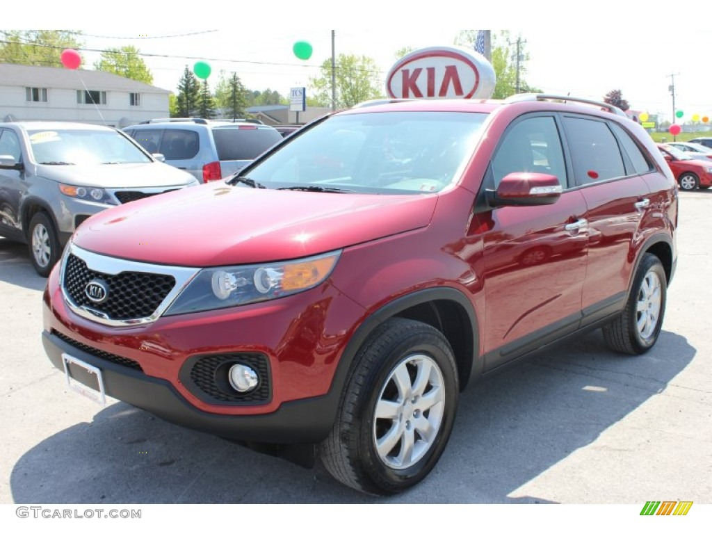 2011 Sorento LX - Spicy Red / Gray photo #17