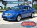 2011 Blue Flame Metallic Ford Fusion SE V6  photo #1