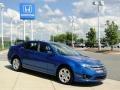 2011 Blue Flame Metallic Ford Fusion SE V6  photo #3