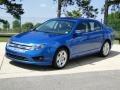2011 Blue Flame Metallic Ford Fusion SE V6  photo #10