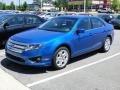2011 Blue Flame Metallic Ford Fusion SE V6  photo #34