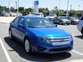 2011 Blue Flame Metallic Ford Fusion SE V6  photo #35