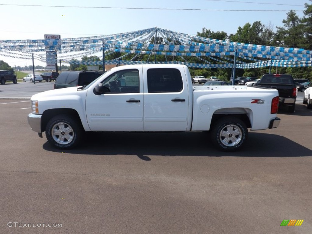 2012 Silverado 1500 LT Crew Cab 4x4 - Summit White / Ebony photo #2