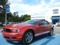 2011 Red Candy Metallic Ford Mustang V6 Premium Convertible  photo #1