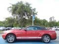 2011 Red Candy Metallic Ford Mustang V6 Premium Convertible  photo #2