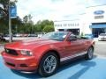 2011 Red Candy Metallic Ford Mustang V6 Premium Convertible  photo #9