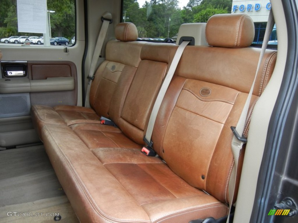 Castano Brown Leather Interior 2006 Ford F150 King Ranch