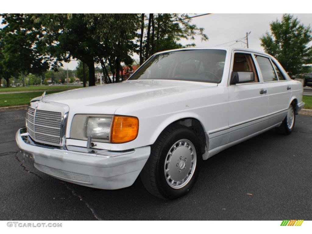 Arctic white 1991 mercedes benz s class 560 sel exterior for Mercedes benz 560 sel