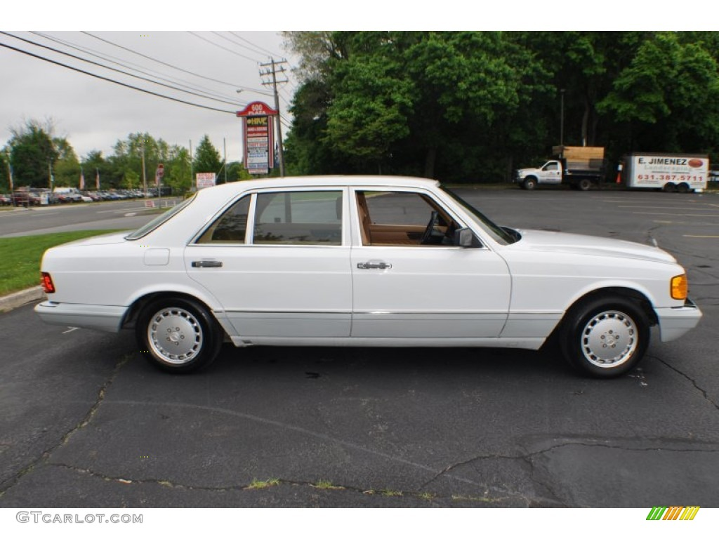 Arctic white 1991 mercedes benz s class 560 sel exterior for 1991 mercedes benz 560sel