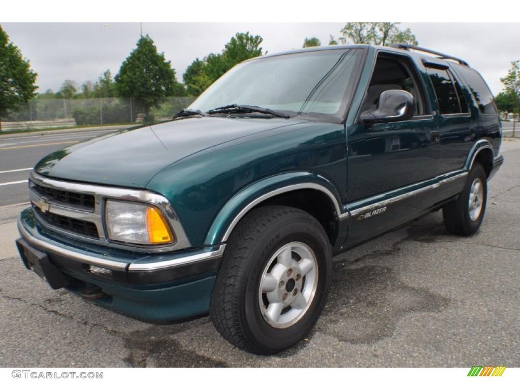 1996 emerald green metallic chevrolet blazer ls 4x4 65228993 gtcarlot com car color galleries gtcarlot com