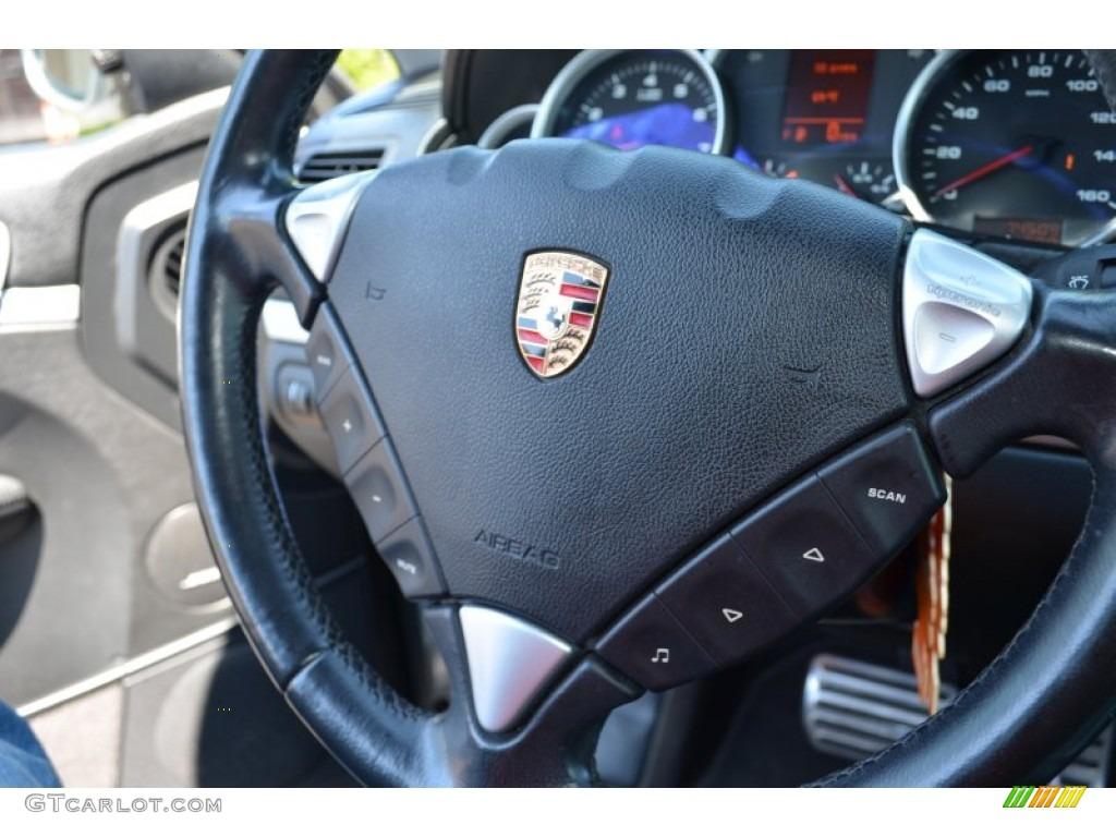 2004 Porsche Cayenne S Black Steering Wheel Photo 65308610