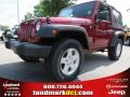 2012 Deep Cherry Red Crystal Pearl Jeep Wrangler Sport S 4x4  photo #1