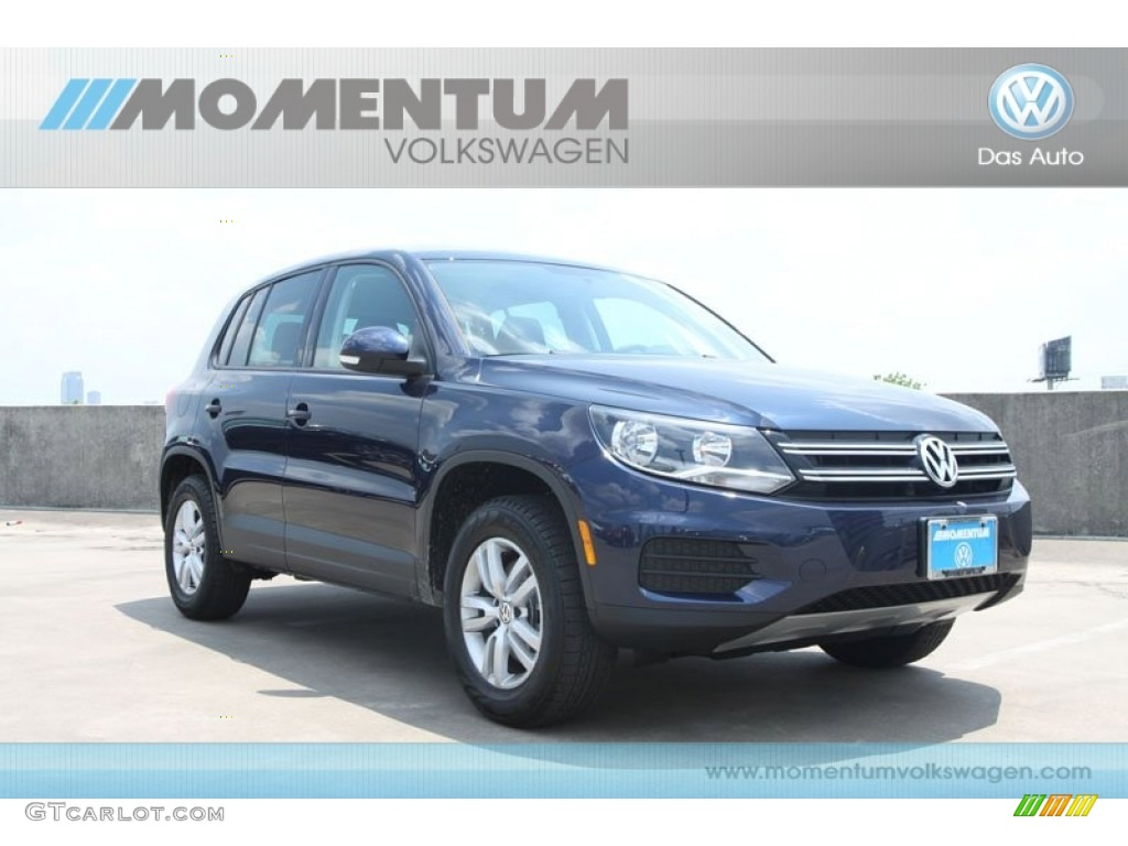 2012 night blue metallic volkswagen tiguan le 65307416. Black Bedroom Furniture Sets. Home Design Ideas