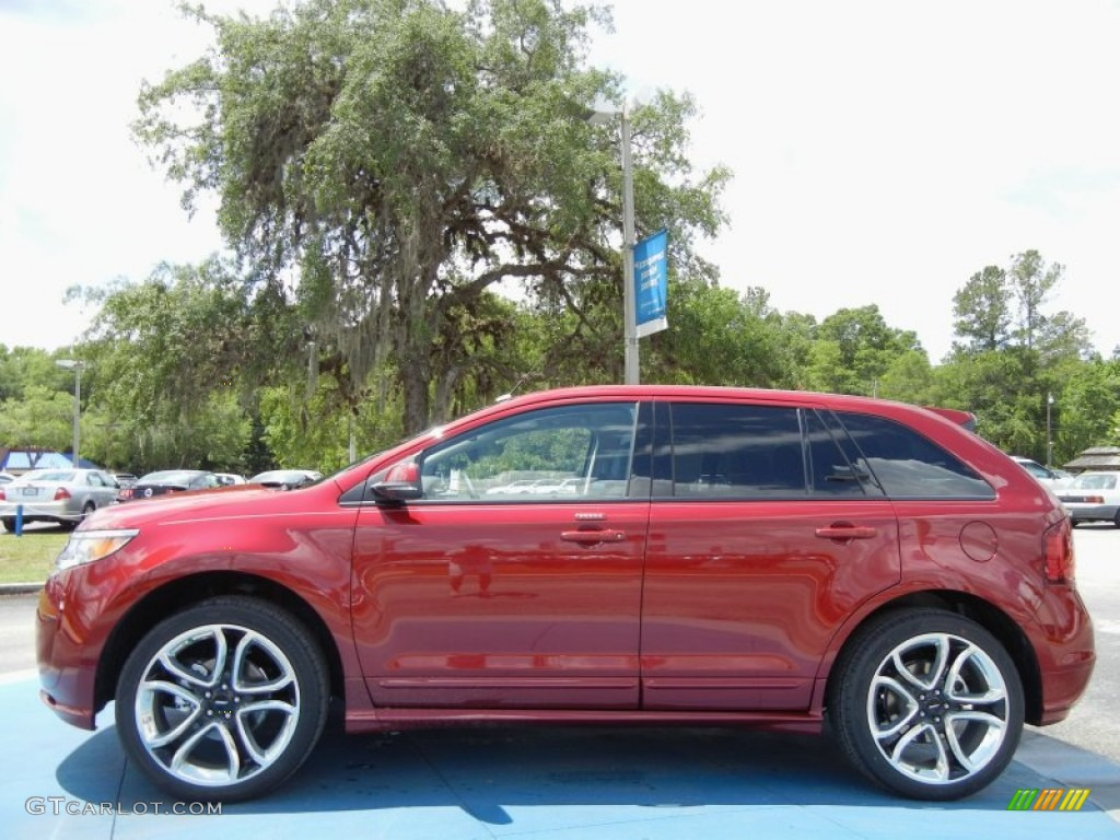 Ford edge sport ruby red youtube
