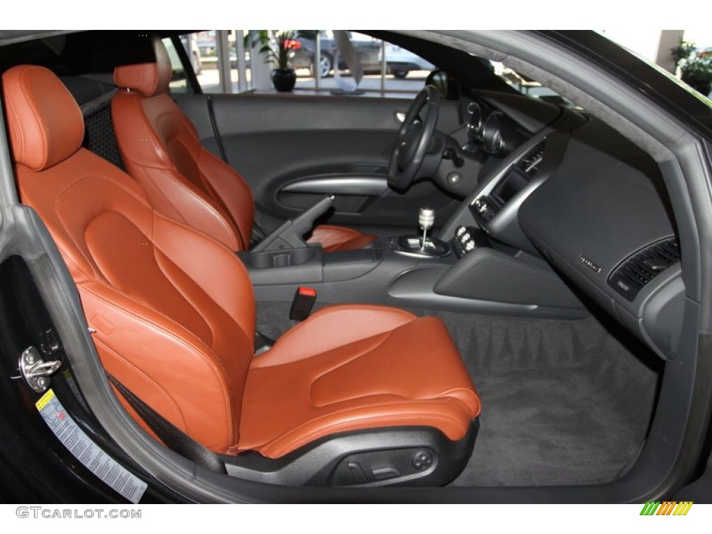 fine nappa tuscan brown leather interior 2009 audi r8 4 2. Black Bedroom Furniture Sets. Home Design Ideas