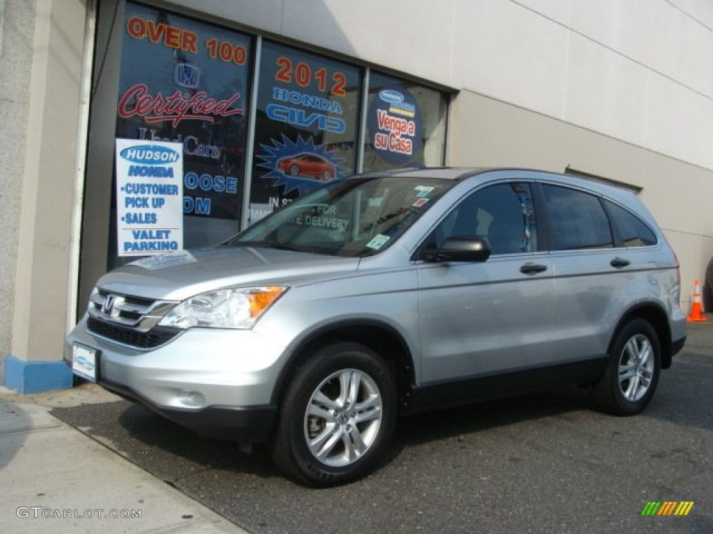 2010 CR-V EX AWD - Alabaster Silver Metallic / Black photo #1